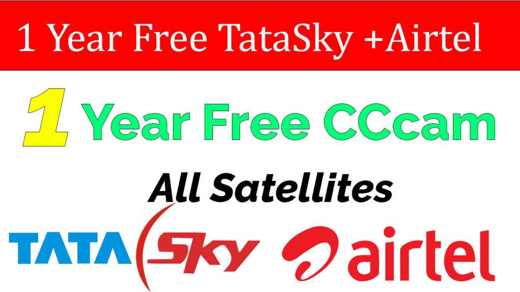 1 year free cccam cline 1 Year Free TataSky + Airtel